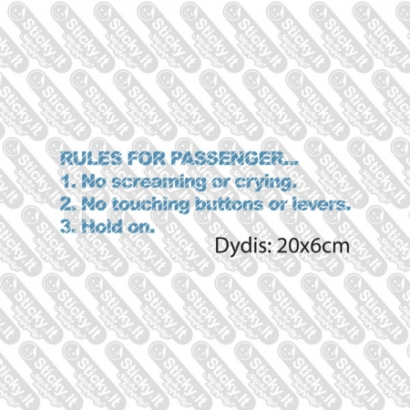 Rules For Passengers