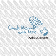 Chuck Norris Was Here- Footprint
