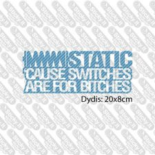 Static. Cause switches...