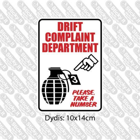 Drift Complaint Department