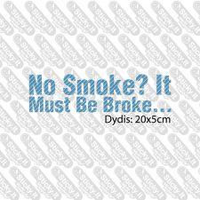 No Smoke? It Must Be Broke