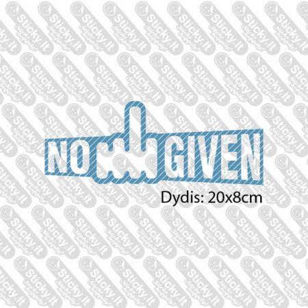No F Given