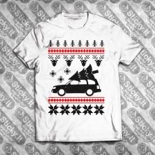 Subaru Forester Kalėdiniai marškinėliai