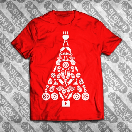 Turbo Eglutė Kalėdiniai marškinėliai